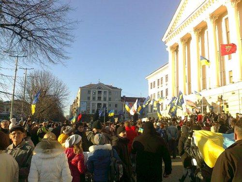 Запорожье 1 декабря 2013: массовые протесты против режима Януковича!!!